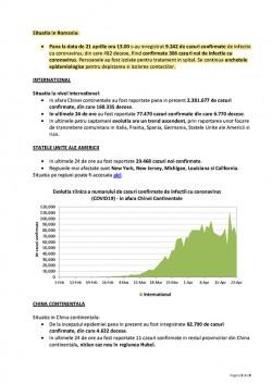 Covid-19, Rapport épidémiologique de la Roumanie